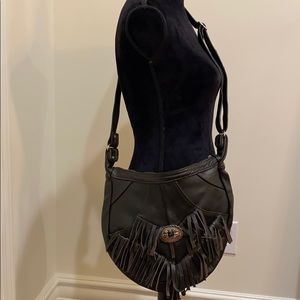 Brand new brown genuine leather SW bag
